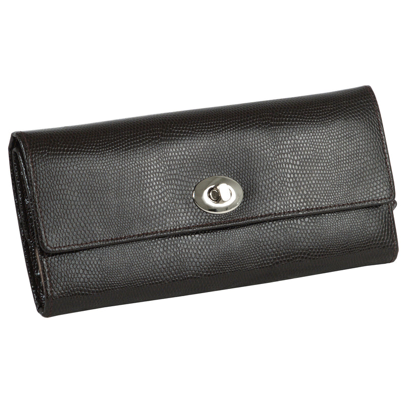 Wolf Cocoa London Jewellery Roll 315306 - Hamilton & Lewis Jewellery
