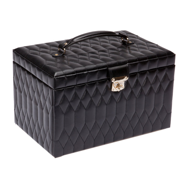 Wolf Black Caroline Extra Large Jewellery Box 329571 - Hamilton & Lewis Jewellery