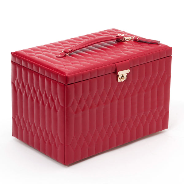 Wolf Red Caroline Extra Large Jewellery Box 329572 - Hamilton & Lewis Jewellery