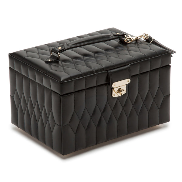 Wolf Black Caroline Medium Jewellery Box 329771 - Hamilton & Lewis Jewellery