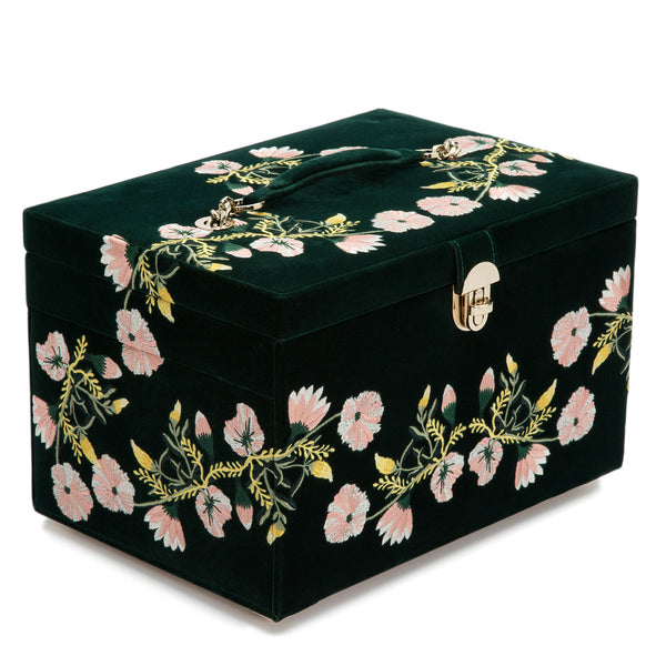 Wolf Forest Green Zoe Large Jewellery Box 393012