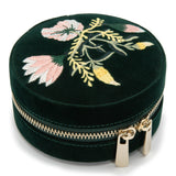 Wolf Forest Green Zoe Jewellery Travel Round Case 393212 - Hamilton & Lewis Jewellery