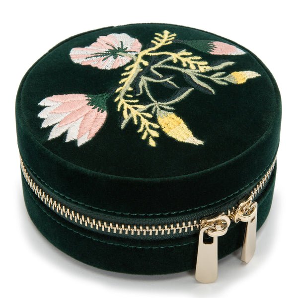 Wolf Forest Green Zoe Jewellery Travel Round Case 393212