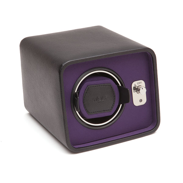 Wolf Single Black/Purple Windsor Winder 452403 - Hamilton & Lewis Jewellery