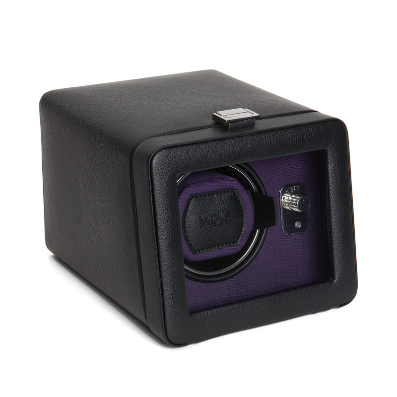 Wolf Single Black/Purple Windsor Winder with Cover 452503 - Hamilton & Lewis Jewellery