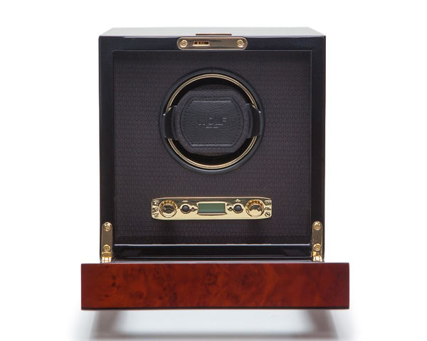Wolf Single Burlwood Savoy Winder 454410 - Hamilton & Lewis Jewellery