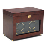 Wolf Double Burlwood Savoy Winder with Storage 454610 - Hamilton & Lewis Jewellery