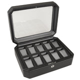 Wolf 10 Piece Black Windsor Watch Box 4584029 - Hamilton & Lewis Jewellery
