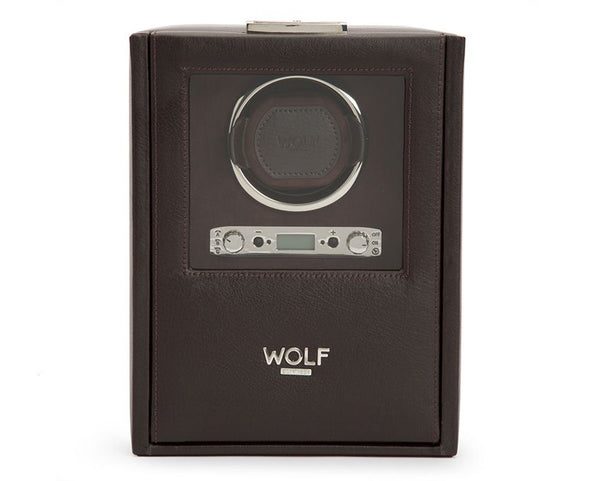 Wolf Single Brown Blake Winder with Storage 460606 - Hamilton & Lewis Jewellery