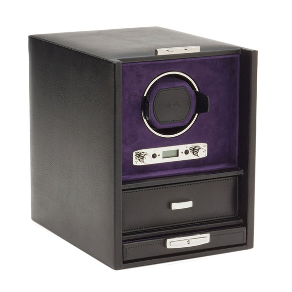 Wolf Single Black/Purple Blake Winder with Storage 460628 - Hamilton & Lewis Jewellery
