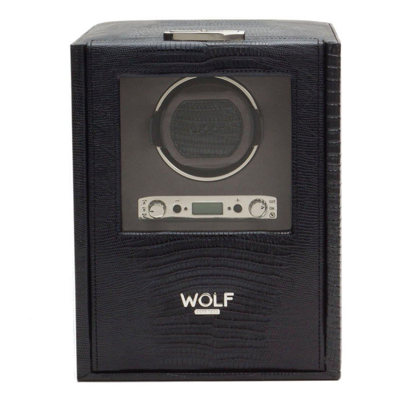 Wolf Single Black Blake Winder with Storage 460658 - Hamilton & Lewis Jewellery