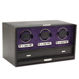 Wolf Triple Black/Purple Blake Winder with Storage 460828 - Hamilton & Lewis Jewellery