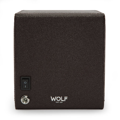 Wolf Single Brown Cub Winder with Cover 461106 - Hamilton & Lewis Jewellery