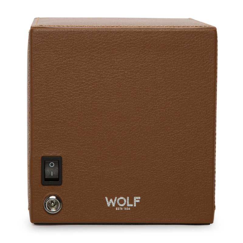 Wolf Single Cognac Cub Winder with Cover 461127 - Hamilton & Lewis Jewellery