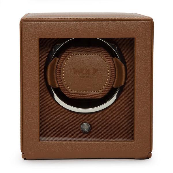 Wolf Single Cognac Cub Winder with Cover 461127