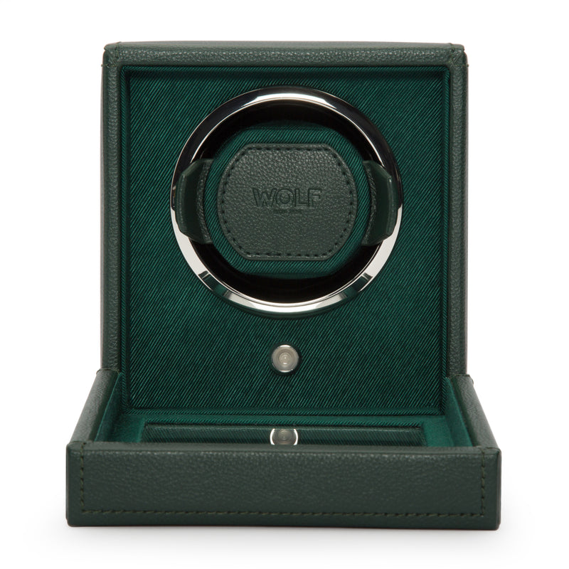 Wolf Single Green Cub Winder with Cover 461141 - Hamilton & Lewis Jewellery