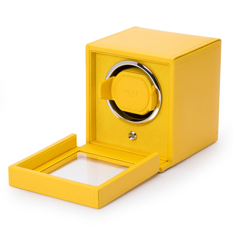 Wolf Single Yellow Cub Winder with Cover 461192 - Hamilton & Lewis Jewellery