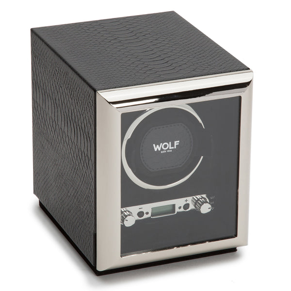 Wolf Single Black Exotic Winder 461720 - Hamilton & Lewis Jewellery