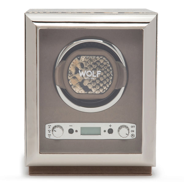Wolf Single Tan Exotic Winder 461722 - Hamilton & Lewis Jewellery
