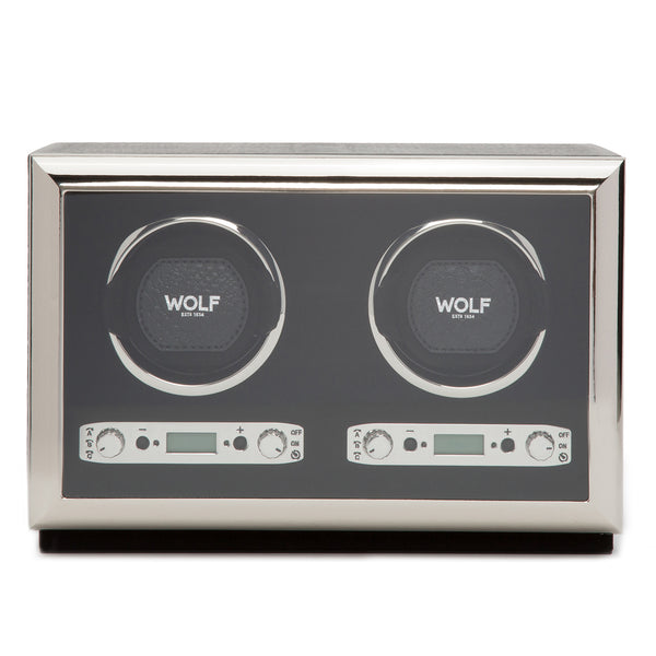 Wolf Double Black Exotic Winder 461820 - Hamilton & Lewis Jewellery