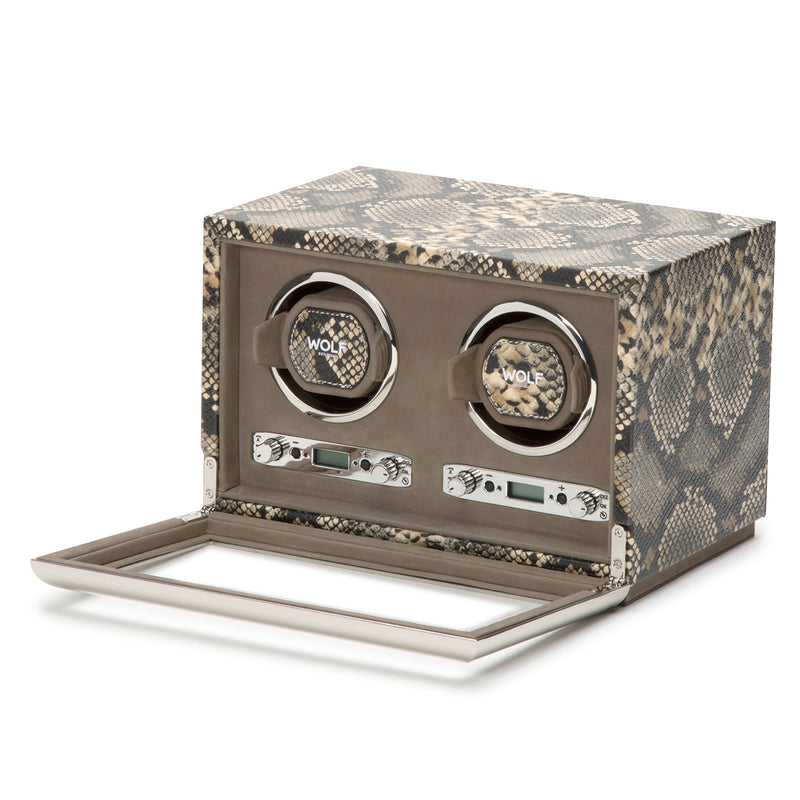 Wolf Double Tan Exotic Winder 461822 - Hamilton & Lewis Jewellery