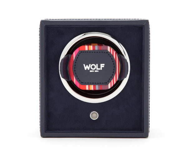 Wolf Single Navy Howard Winder 462217 - Hamilton & Lewis Jewellery