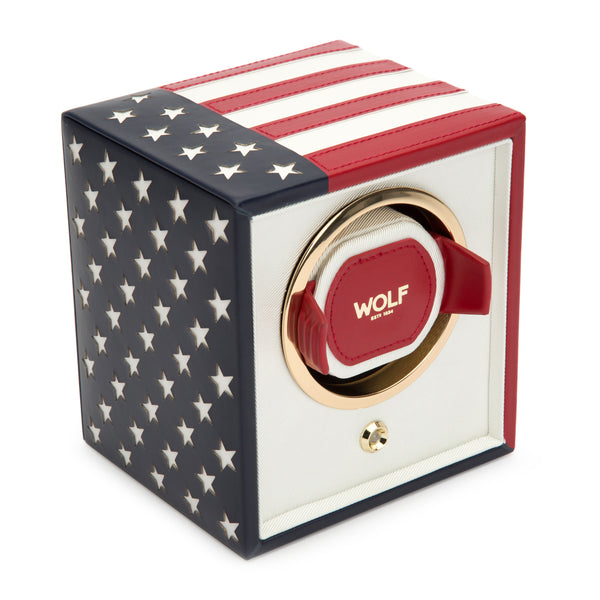 Wolf Single USA Flag Winder 462304 - Hamilton & Lewis Jewellery