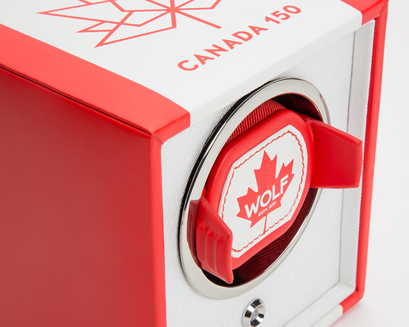 Wolf Single Canadian Flag Winder 462604 - Hamilton & Lewis Jewellery