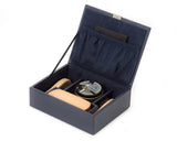 Wolf Howard Navy Shoe Shine Kit 465317 - Hamilton & Lewis Jewellery