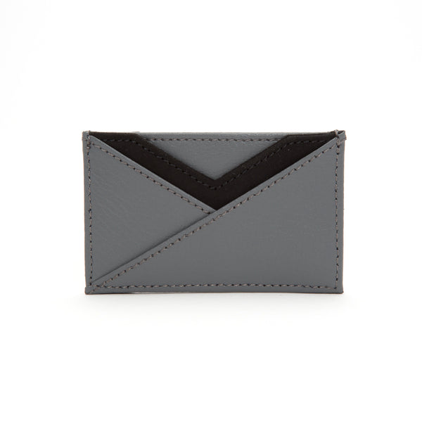 Wolf Howard Grey Leather Card Wallet 466465
