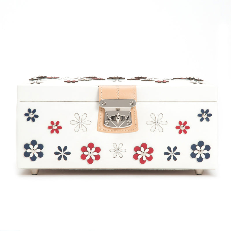 Wolf White Blossom Medium Jewellery Box 467153 - Hamilton & Lewis Jewellery