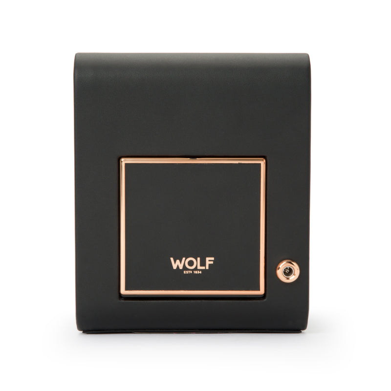 Wolf Single Black Axis Winder 469116 - Hamilton & Lewis Jewellery