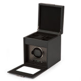Wolf Single Black Axis Winder with Storage 469203 - Hamilton & Lewis Jewellery