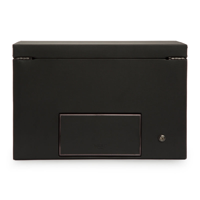Wolf Double Black Axis Winder with Storage 469303 - Hamilton & Lewis Jewellery