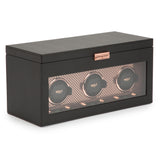 Wolf Triple Black/Copper Axis Winder with Storage 469416 - Hamilton & Lewis Jewellery