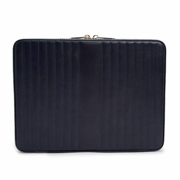 Wolf Navy Maria Large Zip Case 766117 - Hamilton & Lewis Jewellery