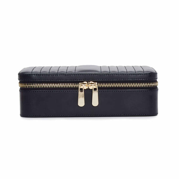 Wolf Navy Maria Medium Zip Case 766317 - Hamilton & Lewis Jewellery