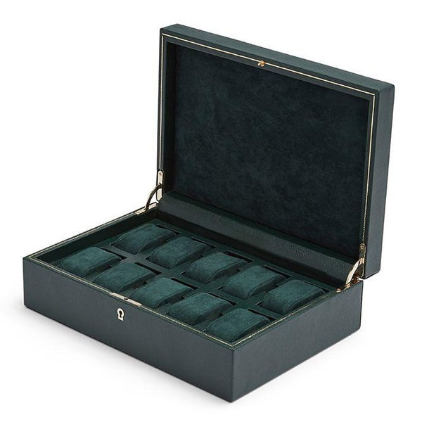Wolf 10 Piece British Racing Green Watch Box 792741 - Hamilton & Lewis Jewellery