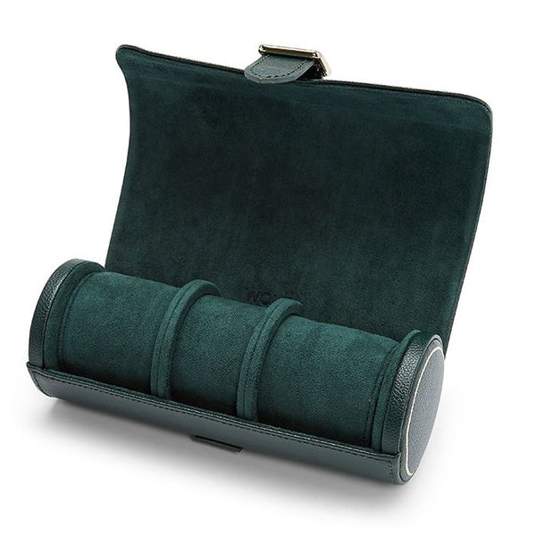 Wolf Triple British Racing Green Watch Roll 792941 - Hamilton & Lewis Jewellery