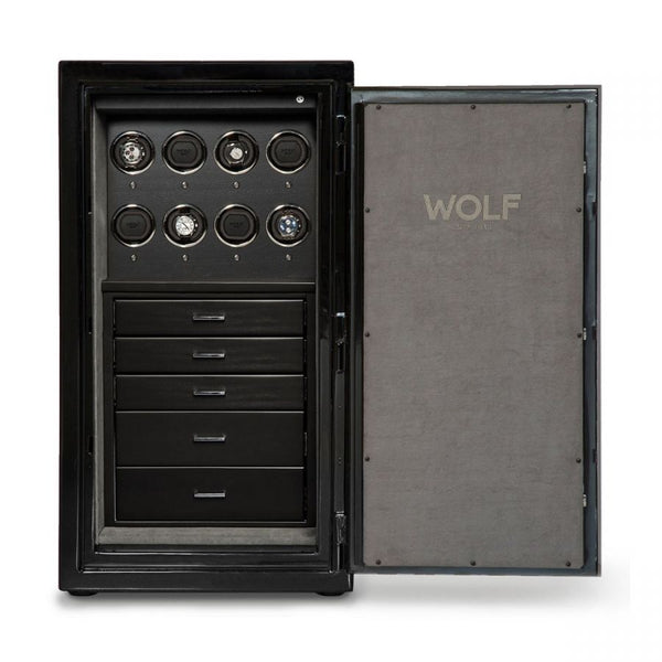 Wolf Atlas 8 piece Onyx Winder Safe 491864 - Hamilton & Lewis Jewellery