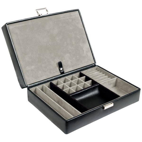 Wolf 4 Piece Black Heritage Watch Box with Valet 99505 - Hamilton & Lewis Jewellery
