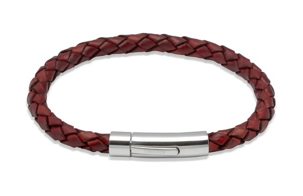 Unique & Co Antique Tan Leather Bracelet A40ATA - Hamilton & Lewis Jewellery
