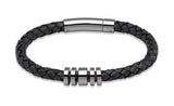 Unique & Co Antique Black Leather Bracelet A65ABL - Hamilton & Lewis Jewellery