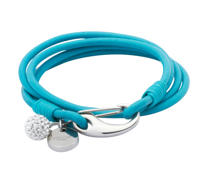 Unique & Co Ladies Turquoise Leather Bracelet B152TR - Hamilton & Lewis Jewellery