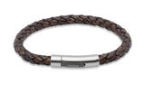 Unique & Co Antique Dark Brown Leather Bracelet B170ADB - Hamilton & Lewis Jewellery