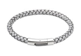 Unique & Co Luminous Grey Leather Bracelet B170LG - Hamilton & Lewis Jewellery