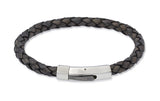 Unique & Co Antique Black Leather Bracelet B176ABL - Hamilton & Lewis Jewellery