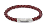 Unique & Co Antique Tan Leather Bracelet B176ATA - Hamilton & Lewis Jewellery