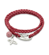 Unique & Co Ladies Antique Cyclamen Leather Bracelet B213ACY - Hamilton & Lewis Jewellery