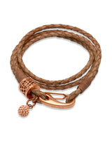 Unique & Co Ladies Natural Leather Bracelet B218NA - Hamilton & Lewis Jewellery
